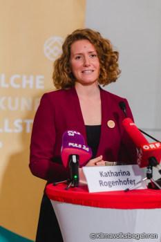 Klimavolksbegehren-Sprecherin Rogenhofer