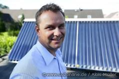 Solarthermiebesitzer Carsten Mönkemeyer