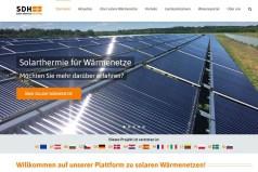 Informationen über solare Wärmenetze
