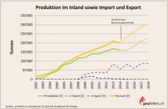 Schweizer Pelletsmarkt: Produktion