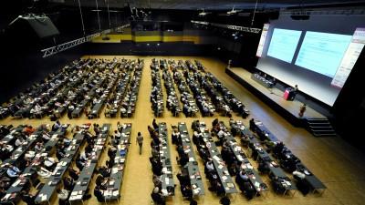 Im vergangenen Jahr kamen kamen Experten aus 35 Ländern zum Industrieforum Pellets nach Stuttgart. Foto: Solar Promotion GmbH